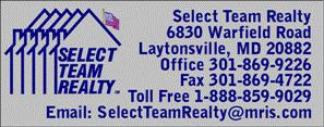 Select Team Realty Information® 301-869-9226